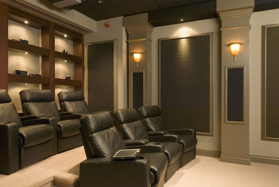 Home Theater With The Specific Vision And Wishes Of The Home Owner
