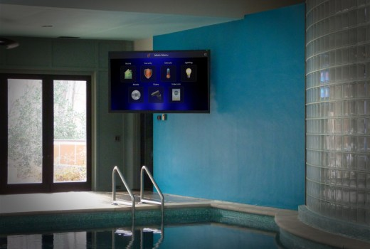 Motorized TV at Indoor Pool